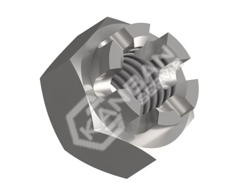 Matice korunková DIN 935-6-St M18x1,50