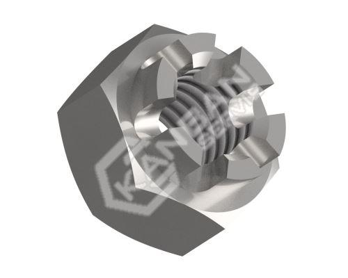 Matice korunková nízká DIN 979-04-St M18x1,50