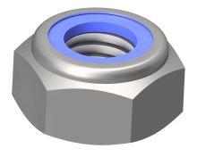 Matice pojistná DIN 985 Inox A4-70 M16 - hnědý nylon