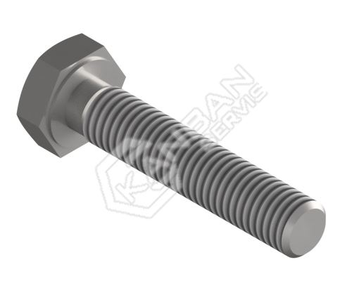 Šroub se šestihrannou hlavou DIN 933 5.8 St M8x60