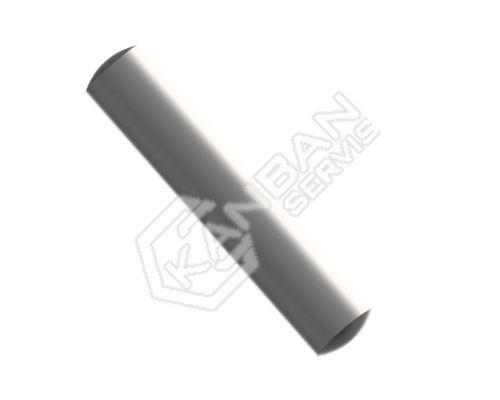 Kolík válcový DIN 7 A Inox A4 pr.3,0m6x4