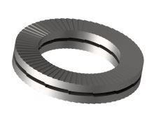 Podložka pojistná slepená HEICO-LOCK HLB-10S Inox A4 M10 (10,7x21,0x2,6)